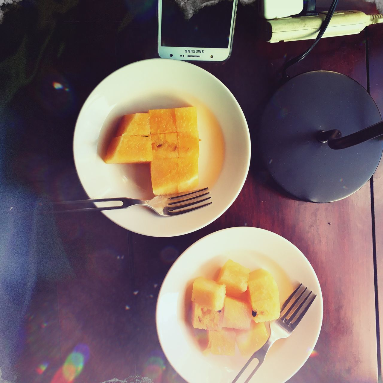 food and drink, plate, fork, food, table, indoors, fruit, freshness, slice, no people, sweet food, breakfast, healthy eating, close-up, ready-to-eat, day