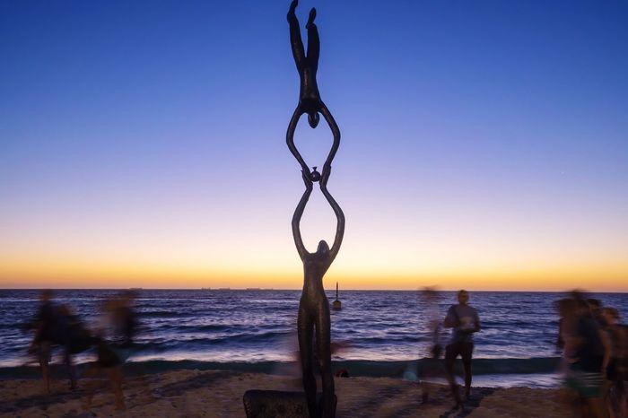 Cottlesloe Beach, Perth People And Places Cottlesloe Perth Western Australia Dusk Sunset Twilight