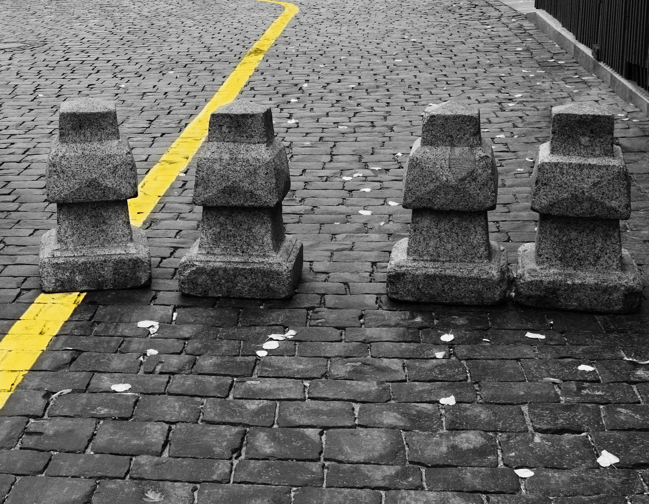 Yellow Outdoors Day No People Close-up Grey And Yellow Texture Stones Stone Road Road Street Photography Streetphoto_bw City Street Cityphotography City B/w Collection B/W Photography