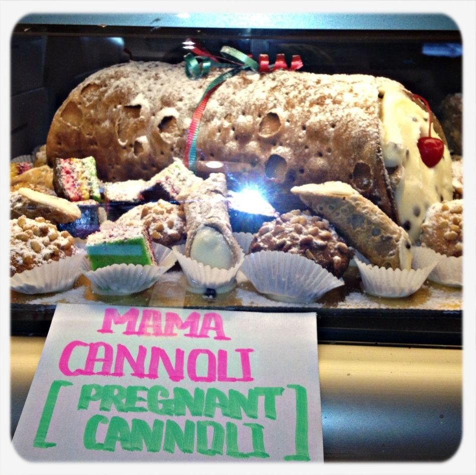 That is one big cannoli! Sweets