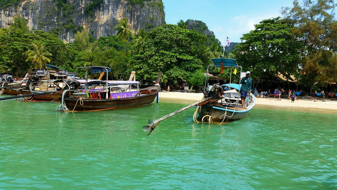 Sunshine Longtailboat AoNang Enjoying The Sun Ocean Swimming Traveling Enjoying Life Hanging Out Nice Atmosphere Holiday Beach Check This Out