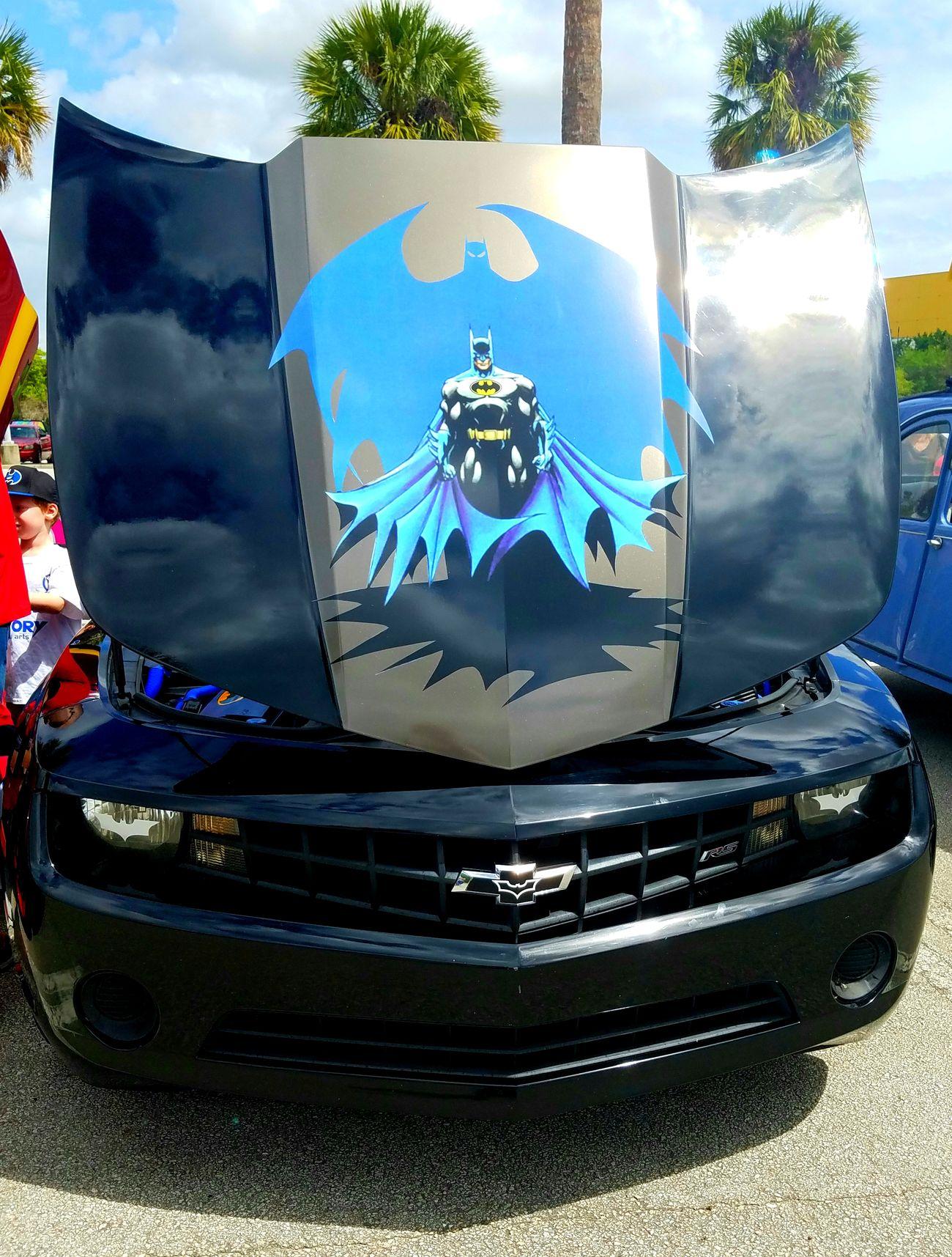 Batman Batmobile Blue Black Glare Reflection Vehicle Exterior Day Sunnyday🌞 CarShow