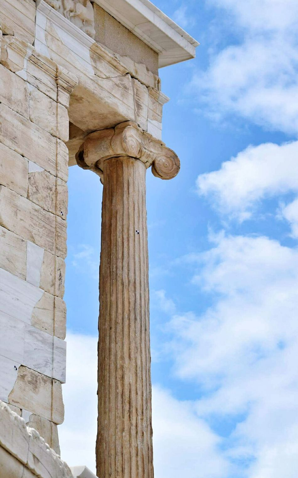 Athens,Greece. Architectural Column Old Ruin History Outdoors Sky Blue Architecture Cloud - Sky Close-up EyeEm Gallery Greece Eyeemphotography EyeEm Best Shots 3XSPUnity Photography EyeEmNewHere Travel Destinations Detailphotography Coloum Athens Greece Hellas No People Art Is Everywhere