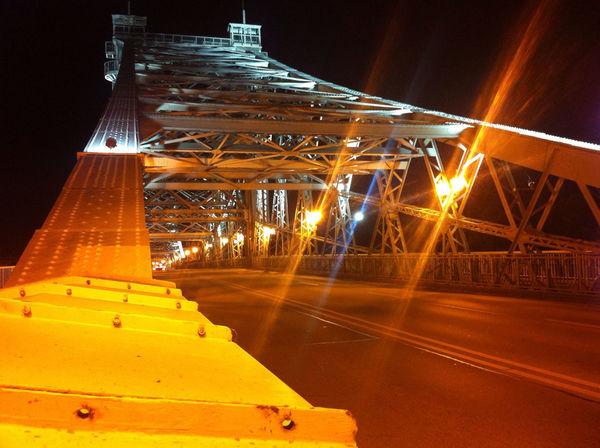 Nightphotography Bridge Night Lights