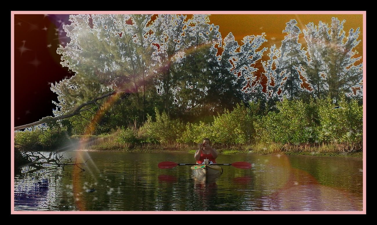 Kayaking in Robbinson Preserve Enjoying Nature Photoedit