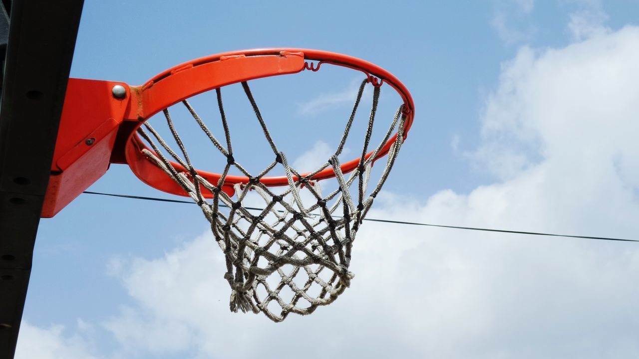 Beautiful stock photos of basketball, Basketball - Sport, Basketball Hoop, Cloud - Sky, Cloudy