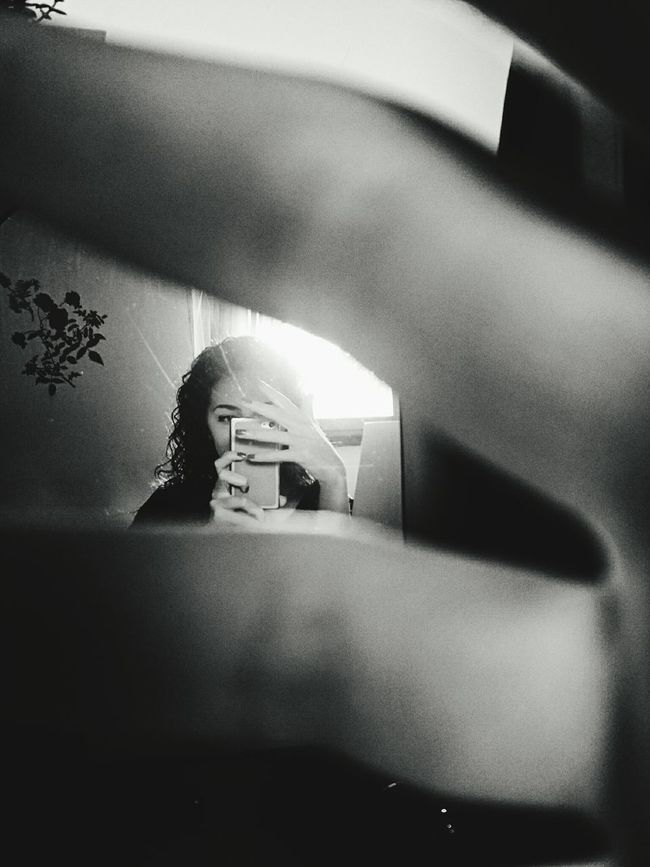 Foodphotography Black & White Mirror Picture Simple Photography Calm Empty Tranquil Scene Person