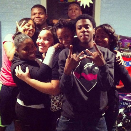 me and the fam geeked up the other night