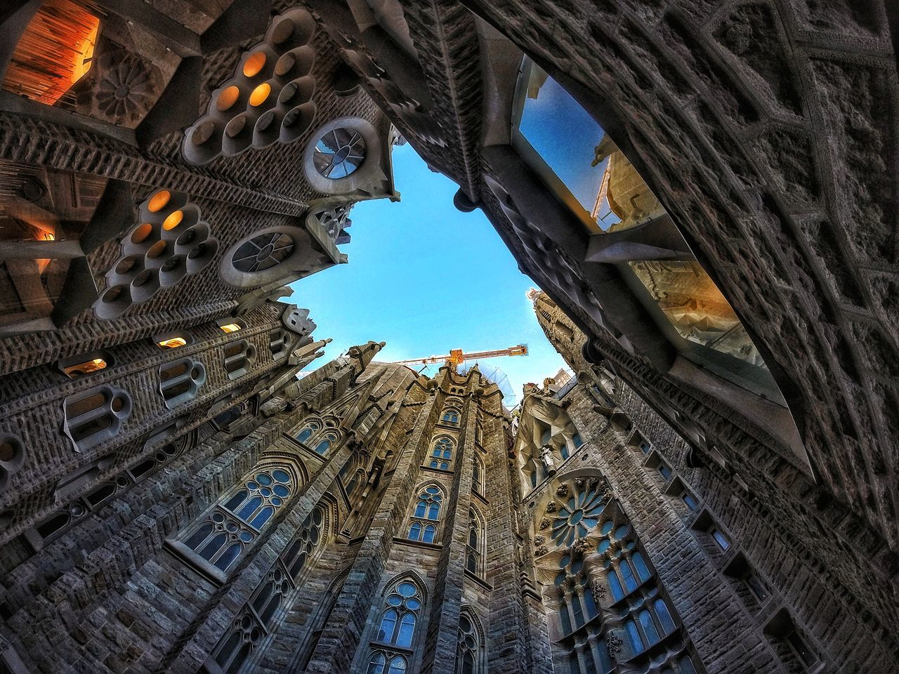 Low Angle View Architecture Sky Built Structure Building Exterior Day Outdoors Skyscraper No People Modern City Sagrada Familia Sagradafamilia Sagradafamiliabarcelona Sagradafamiliachurch Ancient The Past Tourism Nikond3300 Light And Shadow Scenics EyeEm Best Shots Travel Architecture Travel Destinations The Architect - 2017 EyeEm Awards