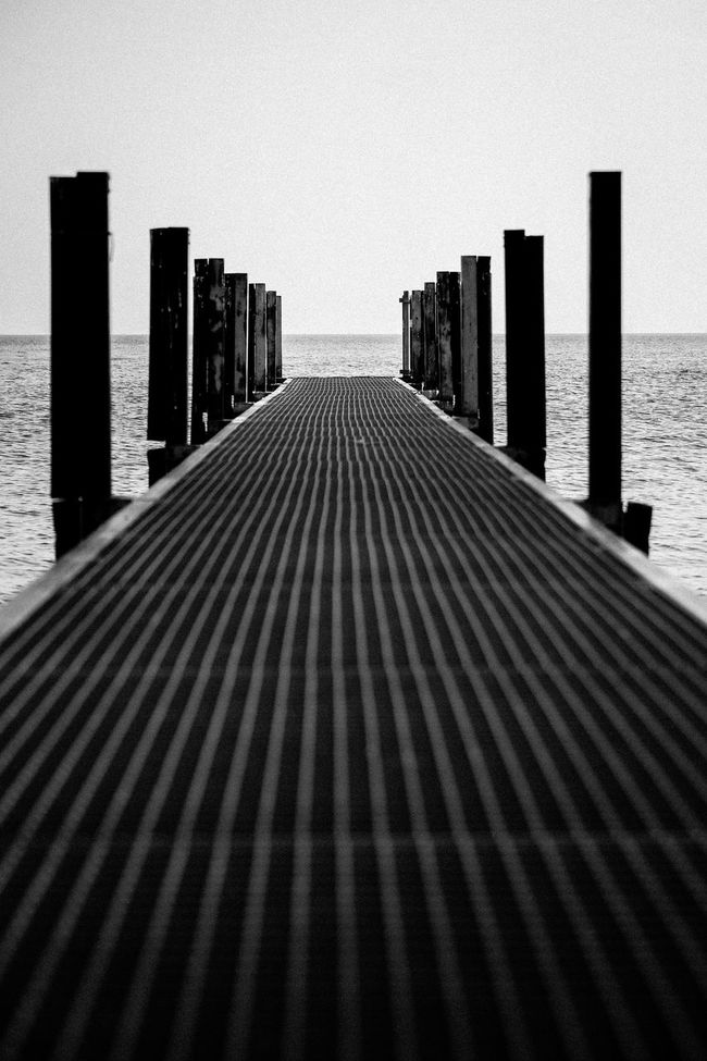 Pier Lake Blackandwhite Black And White Black & White Perspectives Light And Shadow