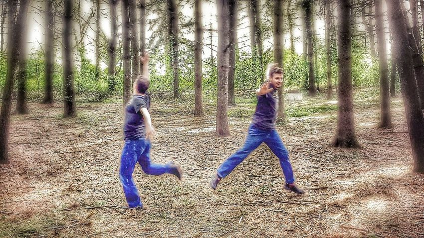 A dance in the park. Portrait of me taken by my wife, Shinann (@robynhood) using Drama mode on my galaxy. Drama Shot  Dancing Hugging A Tree At The Park
