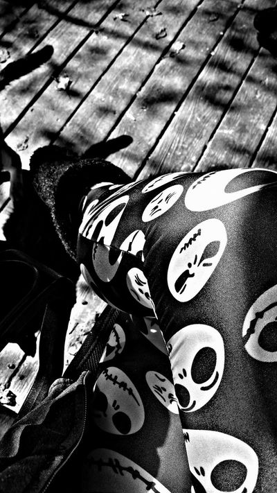 Nightmarebeforechristmas My Leggings :) Blackandwhite Photography