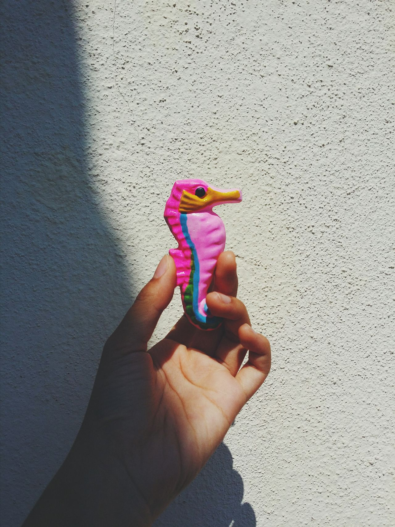 Pink little seahorse. Hand Craft Craft Photography Vscocam Art Minimalist Photography  ArtWork Light And Shadow