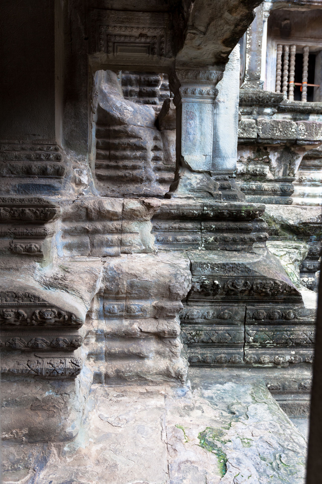 Angkor Thom Architectural Column Architecture Built Structure Day Indoors  No People Staircase Steps Steps And Staircases
