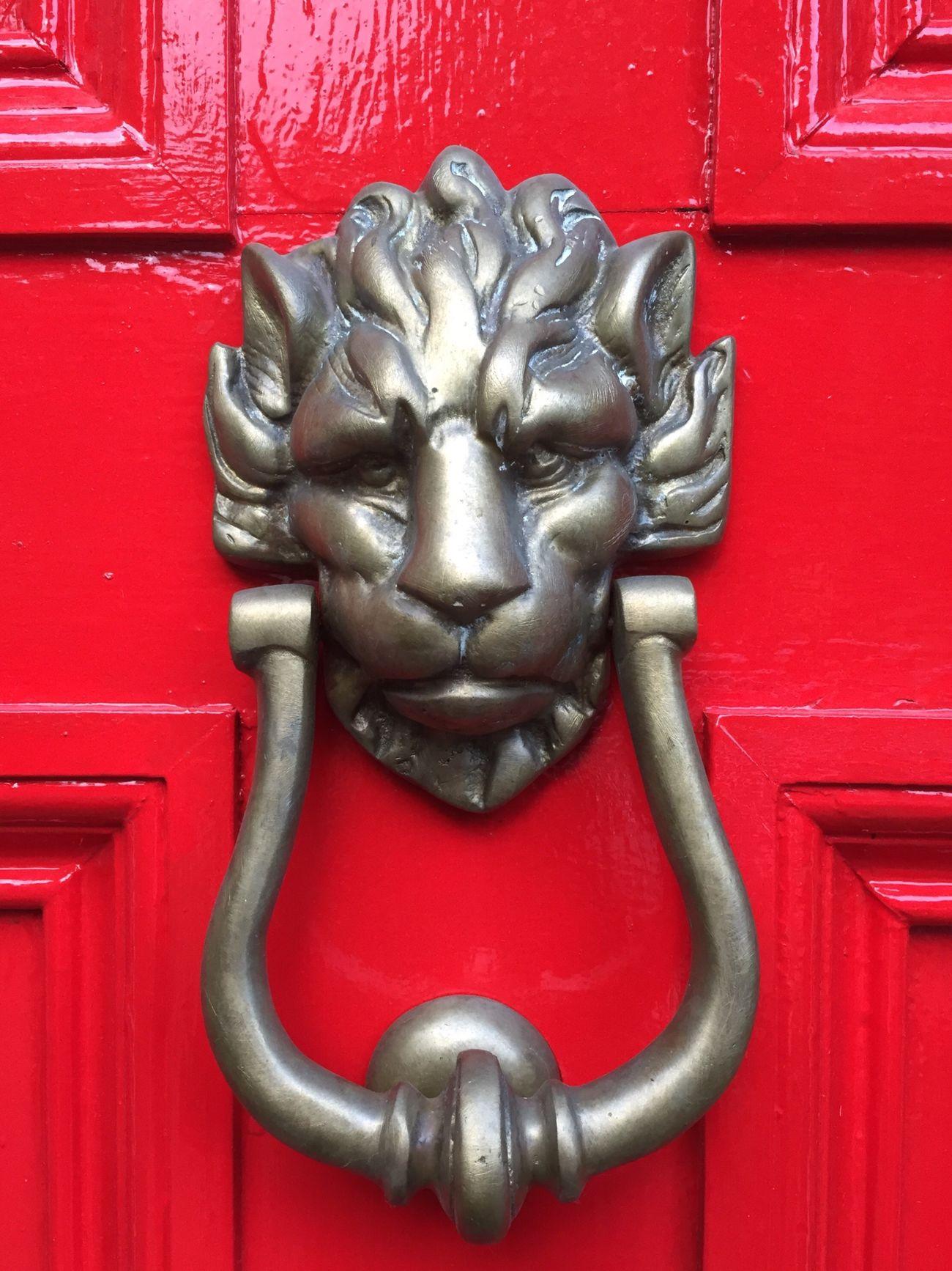 Red Door Knocker Front Door Entrance