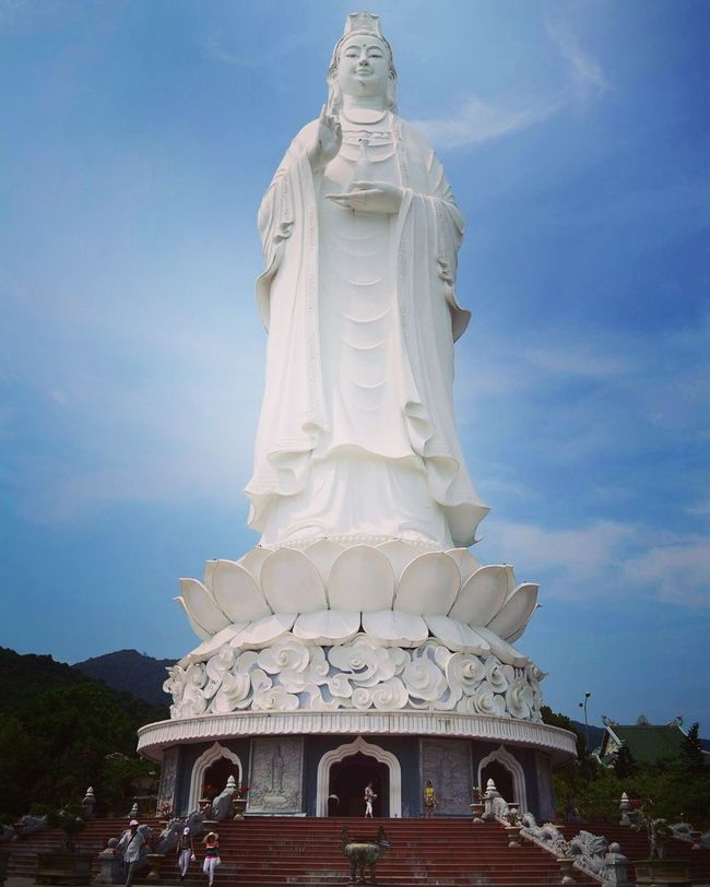 Lady Buddha in all her glory at Son Tra in Da Nang Vietnam Nature Beautiful Photography Travel Nikon Travelphotography Travel Destinations Traveling Digitalphotography Nikonphotography Nikon D5100  Photooftheday Buddha Buddha Statue Ladybuddha Danang Sontra Monkeymountain Beauty Statue ASIA