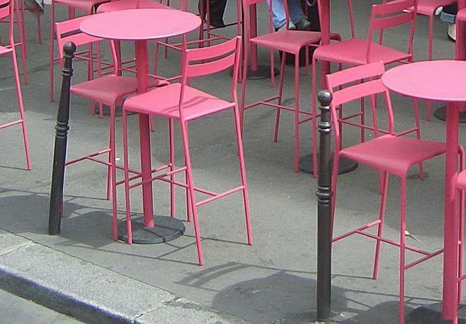 Chairs Empty Chair Tables And Chairs Empty Chairs And Empty Tables Chairstories Pink Heron In A Lake Of Concrete Pink Color Paris, France