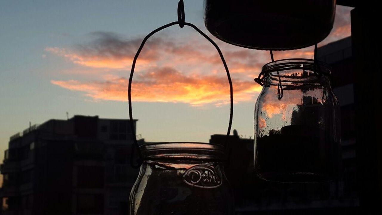 Sunset Outdoors Sky Cityscape Jars  Atardecer Dentro De La Ciudad