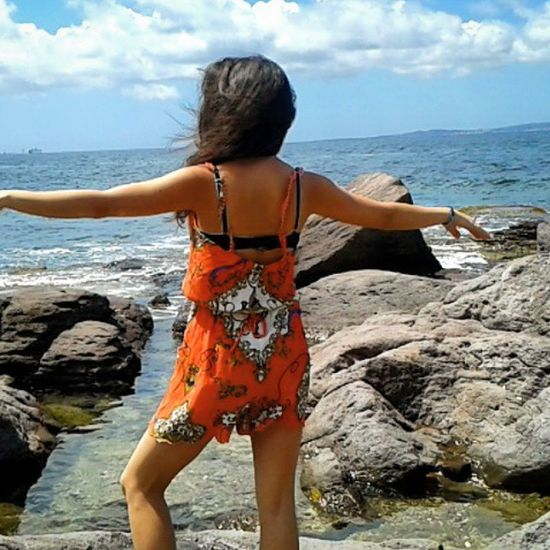 Hair in all directions Summer Tb Sea Water Waves Ripple Sardinia Italy Island Tanned Roasting ♥
