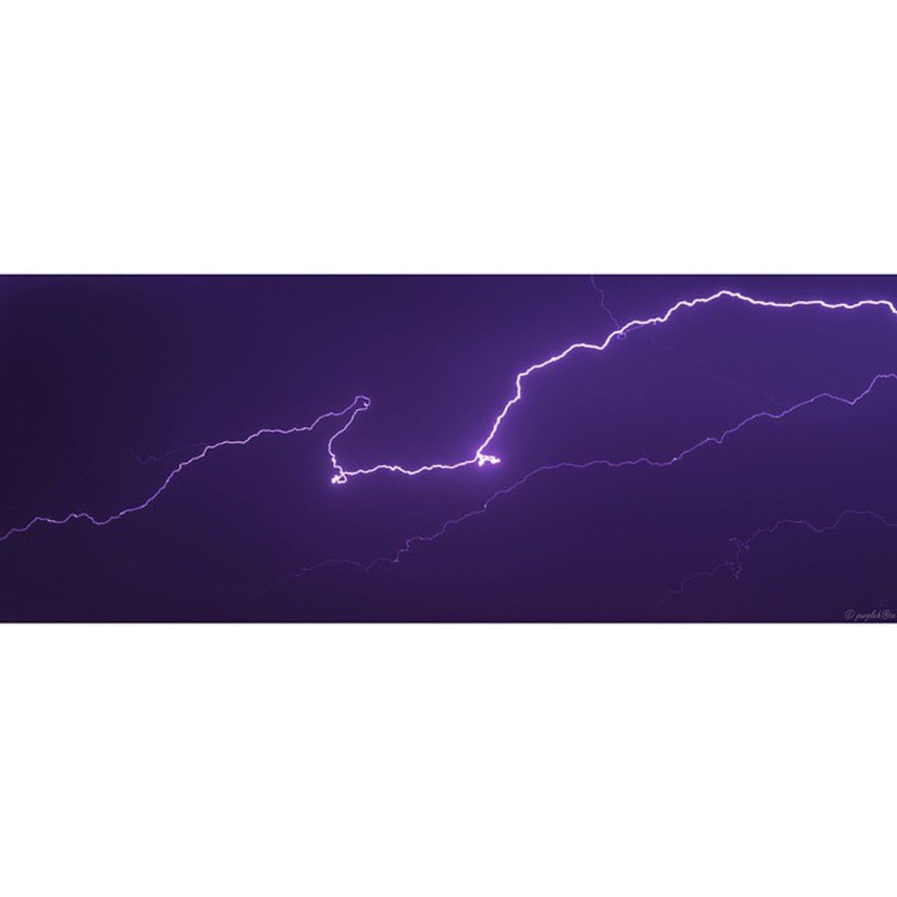 lightning, thunderstorm, power in nature, danger, copy space, storm, forked lightning, purple, nature, outdoors, illuminated, no people, beauty in nature, scenics, sky, night, clear sky