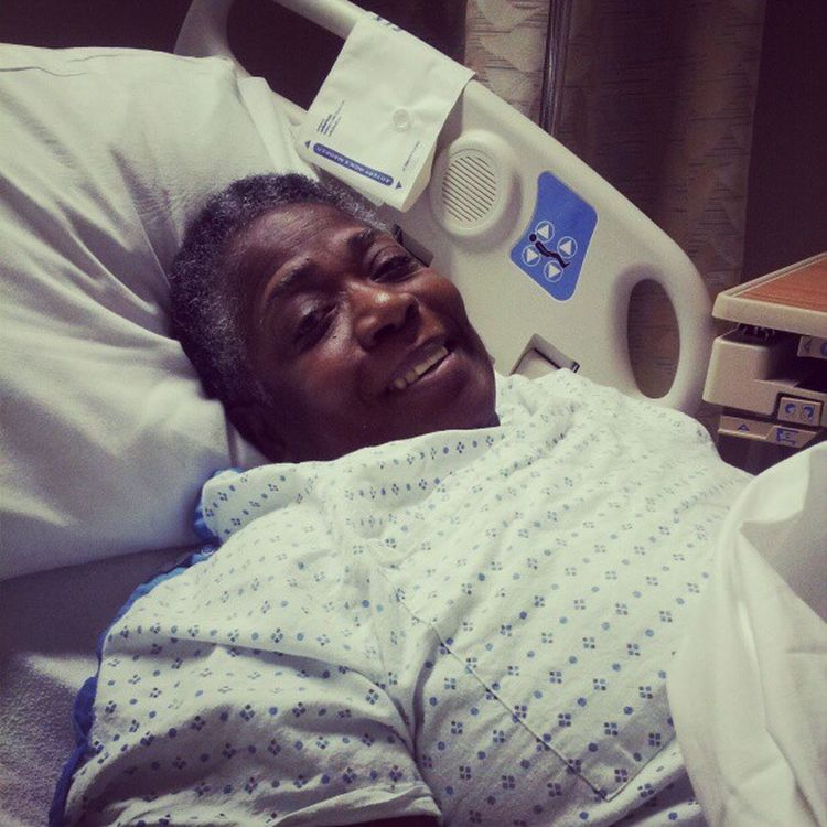 My Mom is a soldier. She has been shuffled from. Civista to Washington hospital center and can still laugh at it all.