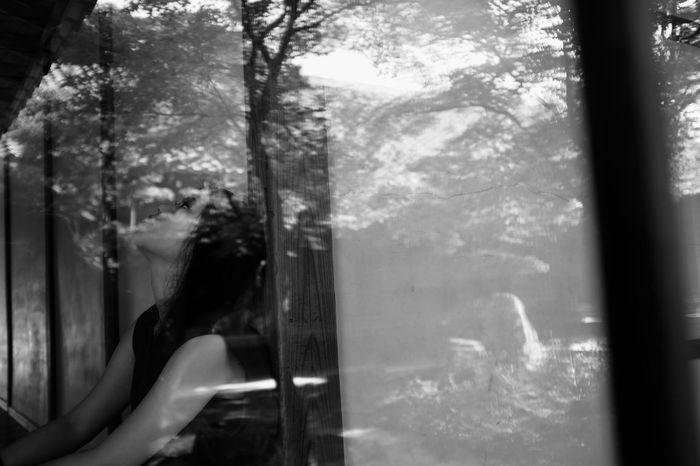 Blackandwhite Monochrome Reflection Mirror