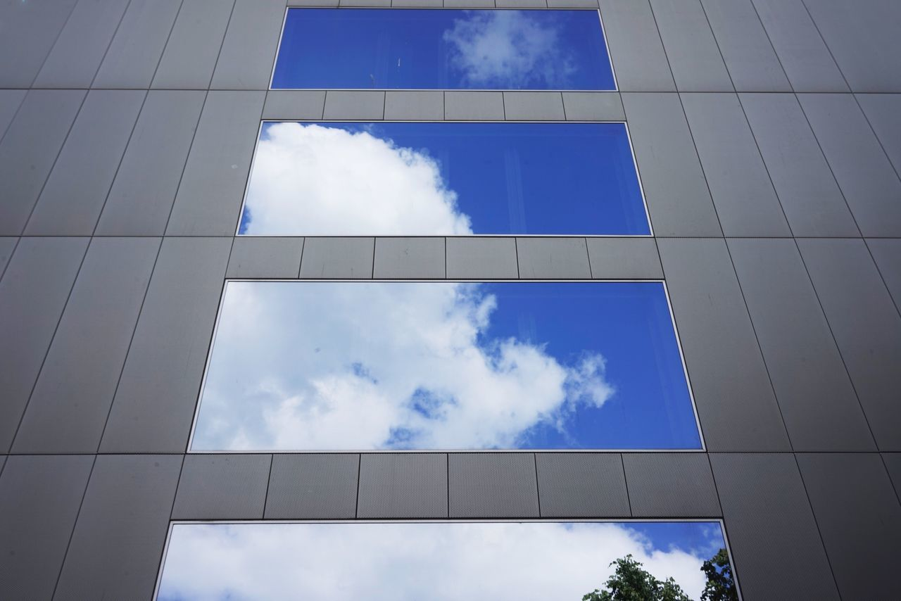 Cloud - Sky Low Angle View Sky Blue Day Built Structure No People Architecture Outdoors Building Exterior Nature