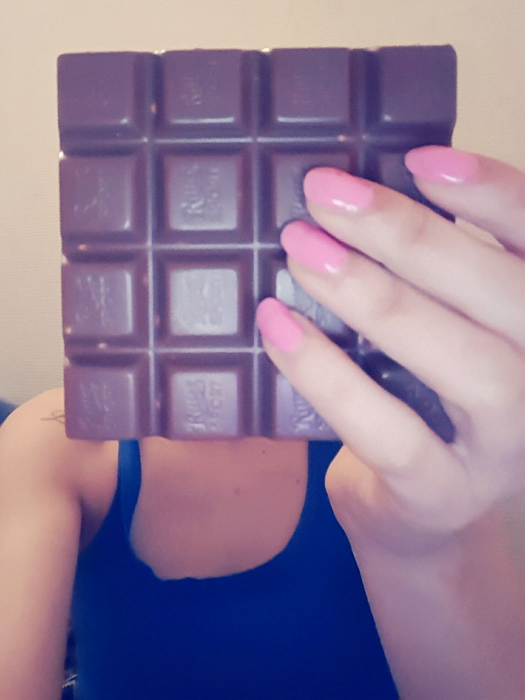 Studying Kind Of Chocolate In My Mouf Beingallhealthyandshit Selfieoftheday It's Time For Someone To Do Something Pink Nails Anonymous Lieblingsteil