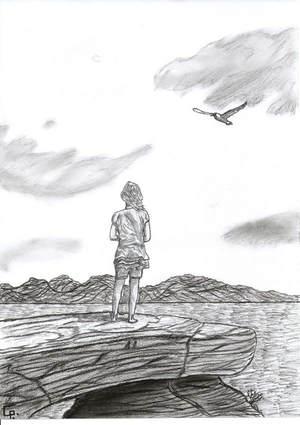 The lone Girl Gezeichnetes Relaxing Nature Drawings Zeichnen Creative Leipzig Lost Places Hanging Out Zeichnung