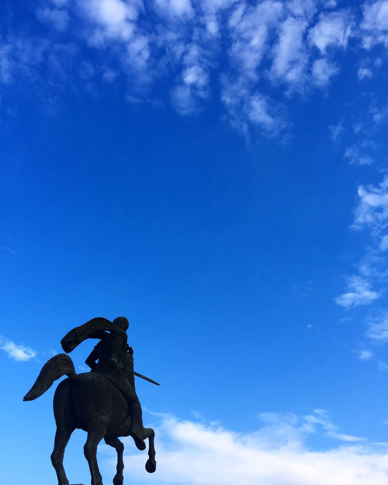Horse Sky Cloud - Sky Sculpture No People Tranquil Scene Tranquility In Greece Minimalobsession Minimalism Minimalmood Minimal Check This Out Eyeemphotography Statue Minimalist Minimalism_masters Minimalistic