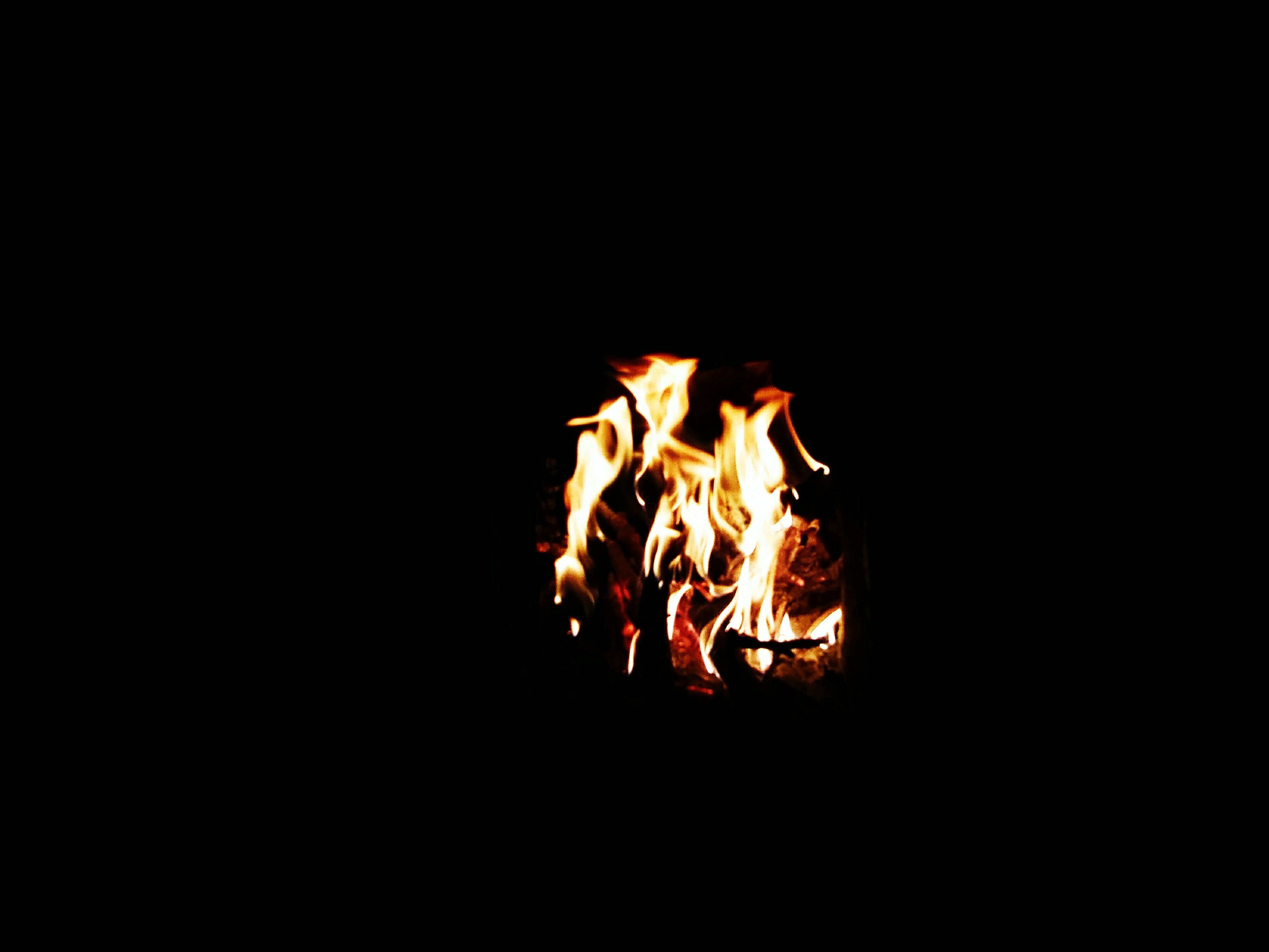 flame, burning, heat - temperature, night, copy space, dark, no people, bonfire, campfire, close-up, fire pit, outdoors, illuminated