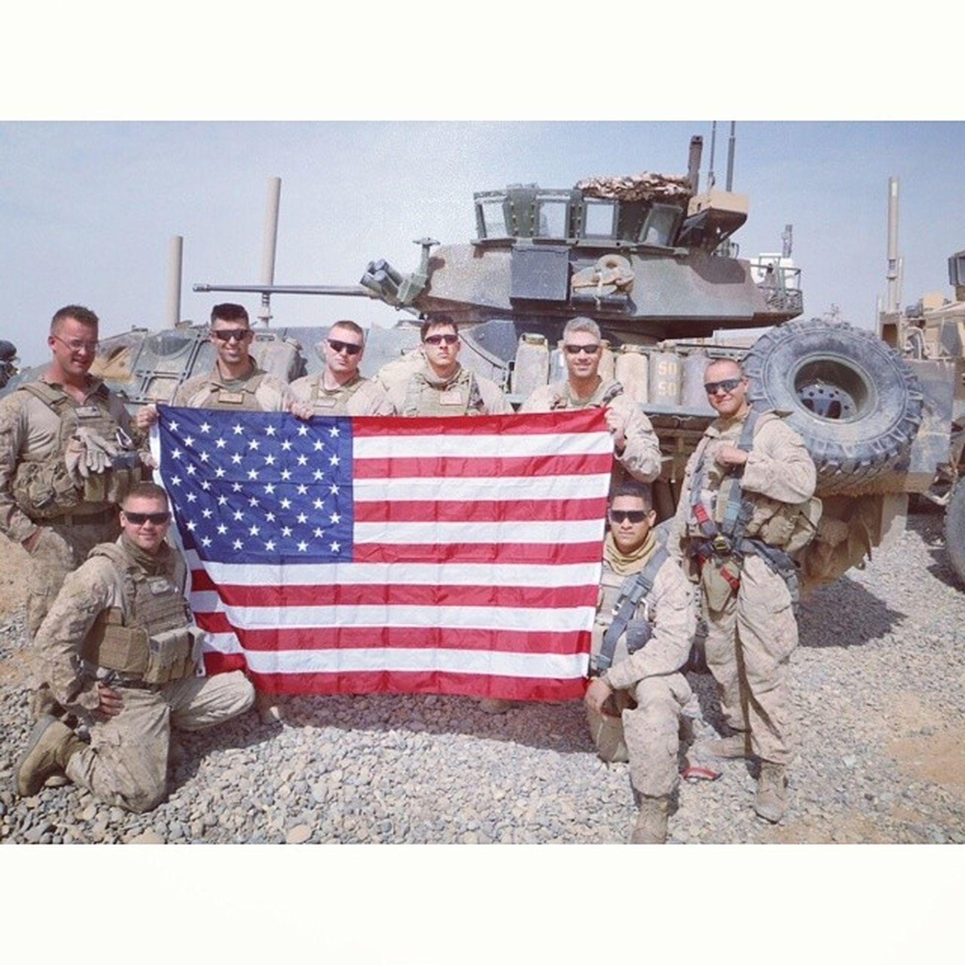 Posting up the flag in Helmand Afghanistan Fmf Corpsman proudveteran 1stMarineDivision Sardonabad downforafight gunfighters