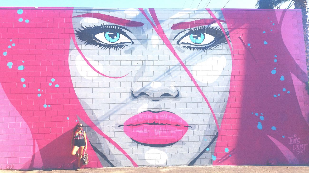 When you feel her staring into your soul Mural Dtla Art District Check This Out