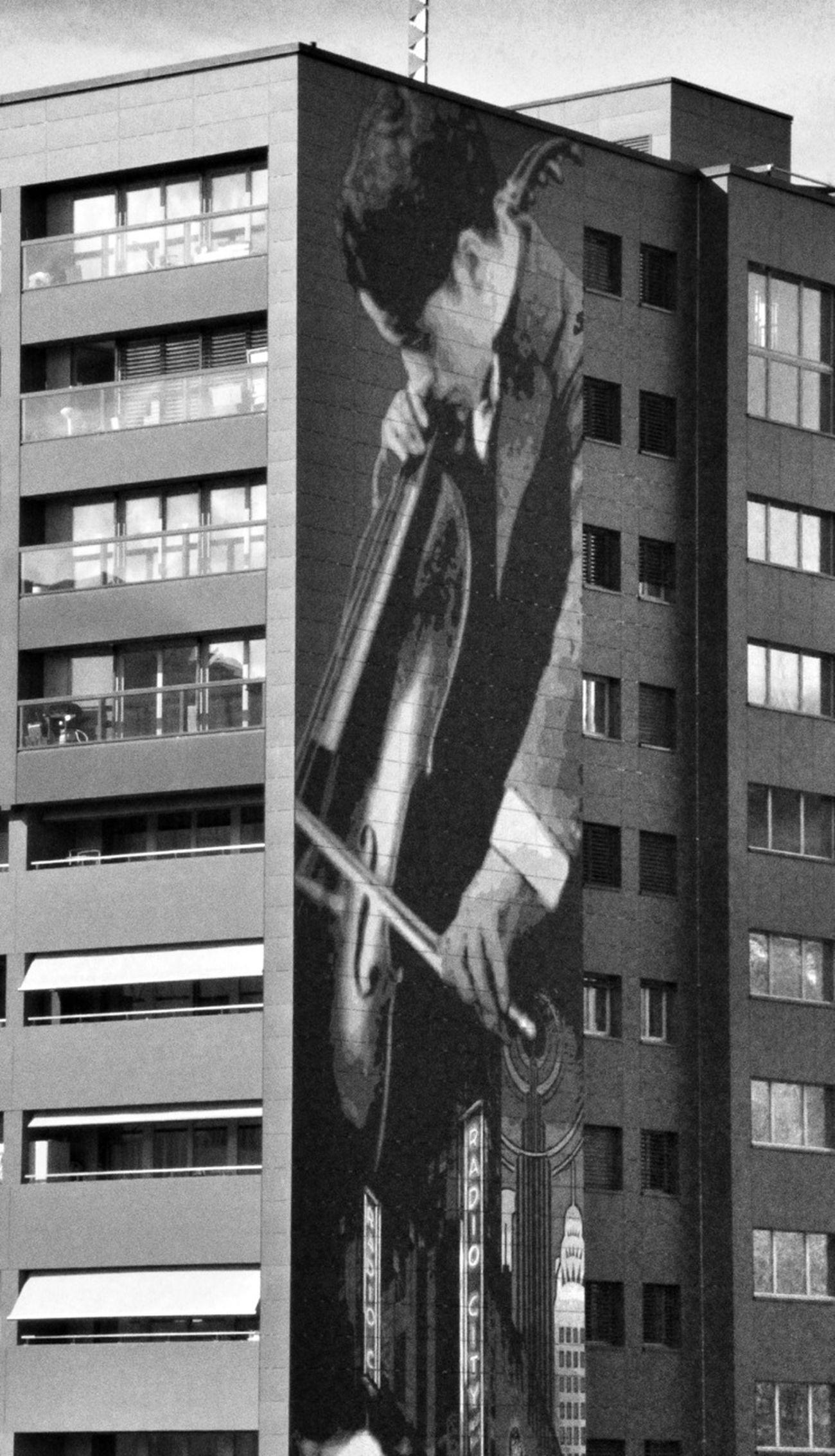 Charlie Chaplin On The Wall