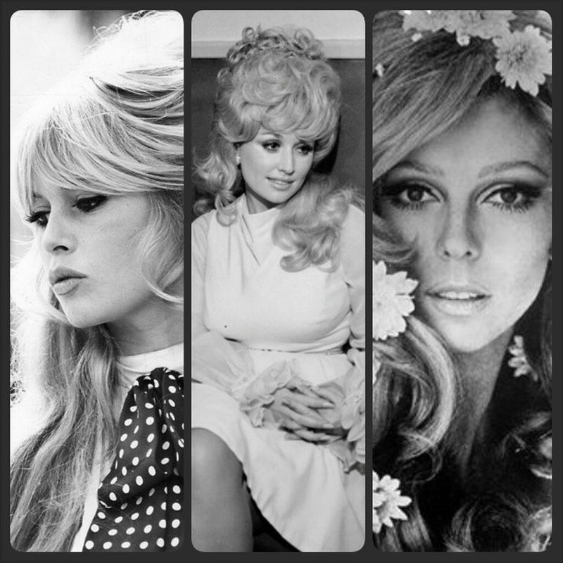 Pretty sure one of these women gave birth to me secretly. Lol. WCW Womancrushwednesday BrigitteBardot Dollyparton NancySinatra pretty blonde idol