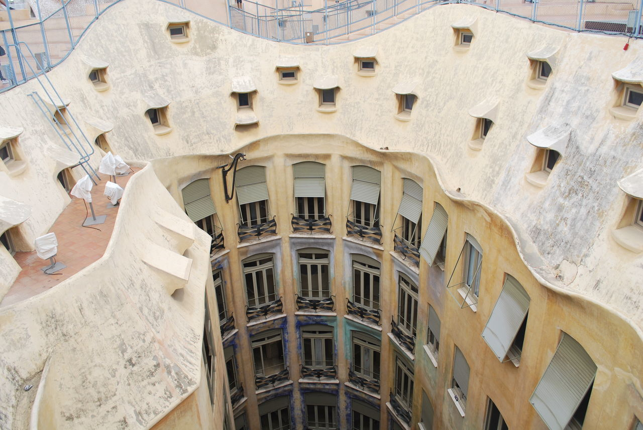 Architecture Barcelona Barcelona, Spain Building Exterior Built Structure Casa Mila ( La Pedrera ) Casa Milà Gaudì Clock Day Dome Gaudi Indoors  Low Angle View No People Place Of Worship Roof Rooftop SPAIN