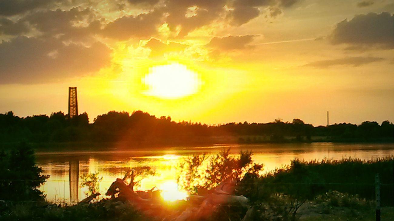 Leipzig Seeblick See Lake View Cossi Cospudener See Sunset