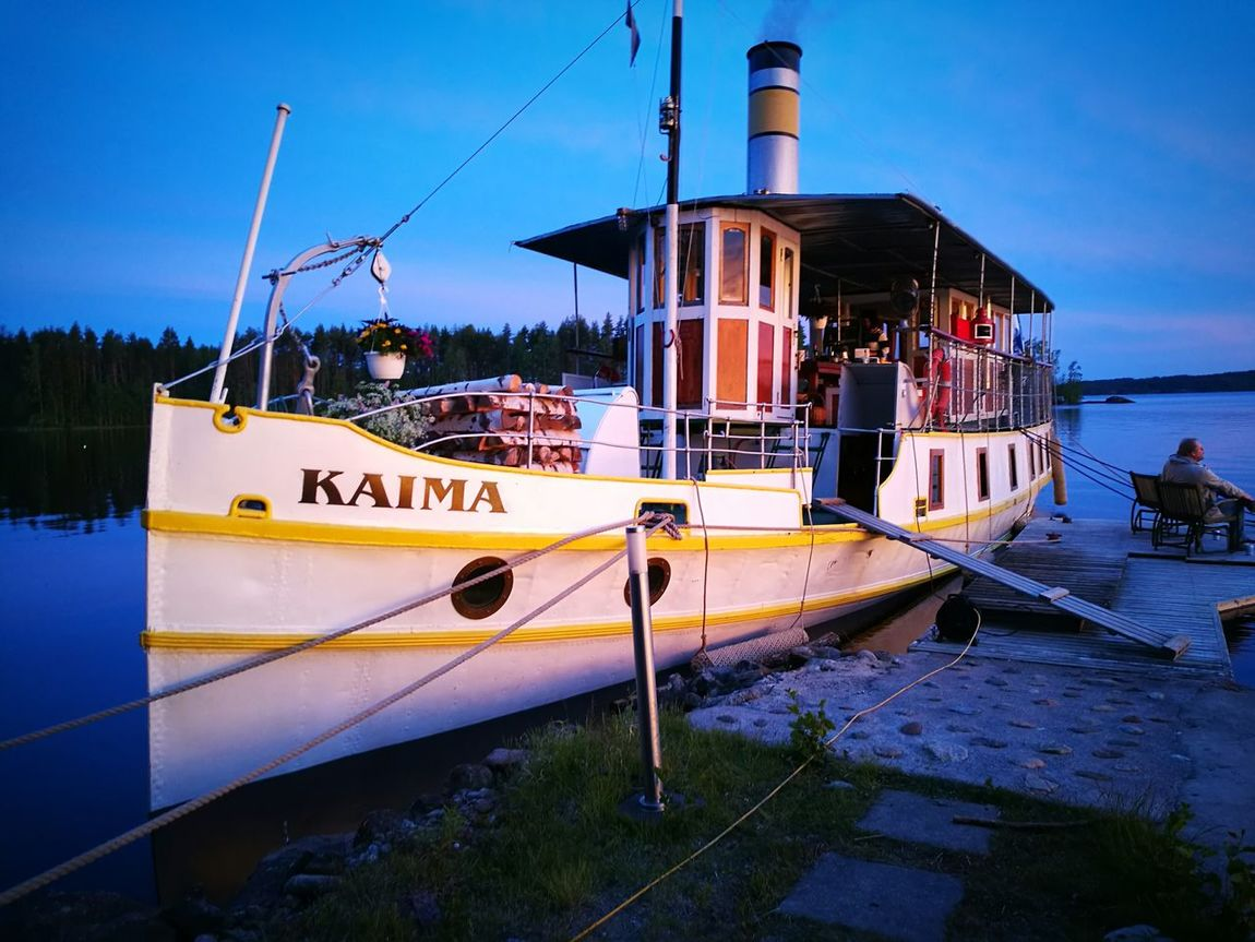 Nautical Vessel Water Ship Outdoors Harbor Finnish Summer Steamboat Finnish Lake Saimaa
