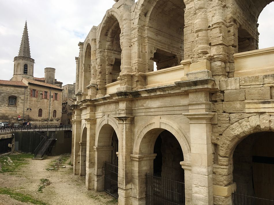 Architecture Built Structure Building Exterior History Travel Destinations Arch Old Ruin Ancient Tourism Outdoors No People Day Place Of Worship Sky Ancient Civilization France Arles Frainf