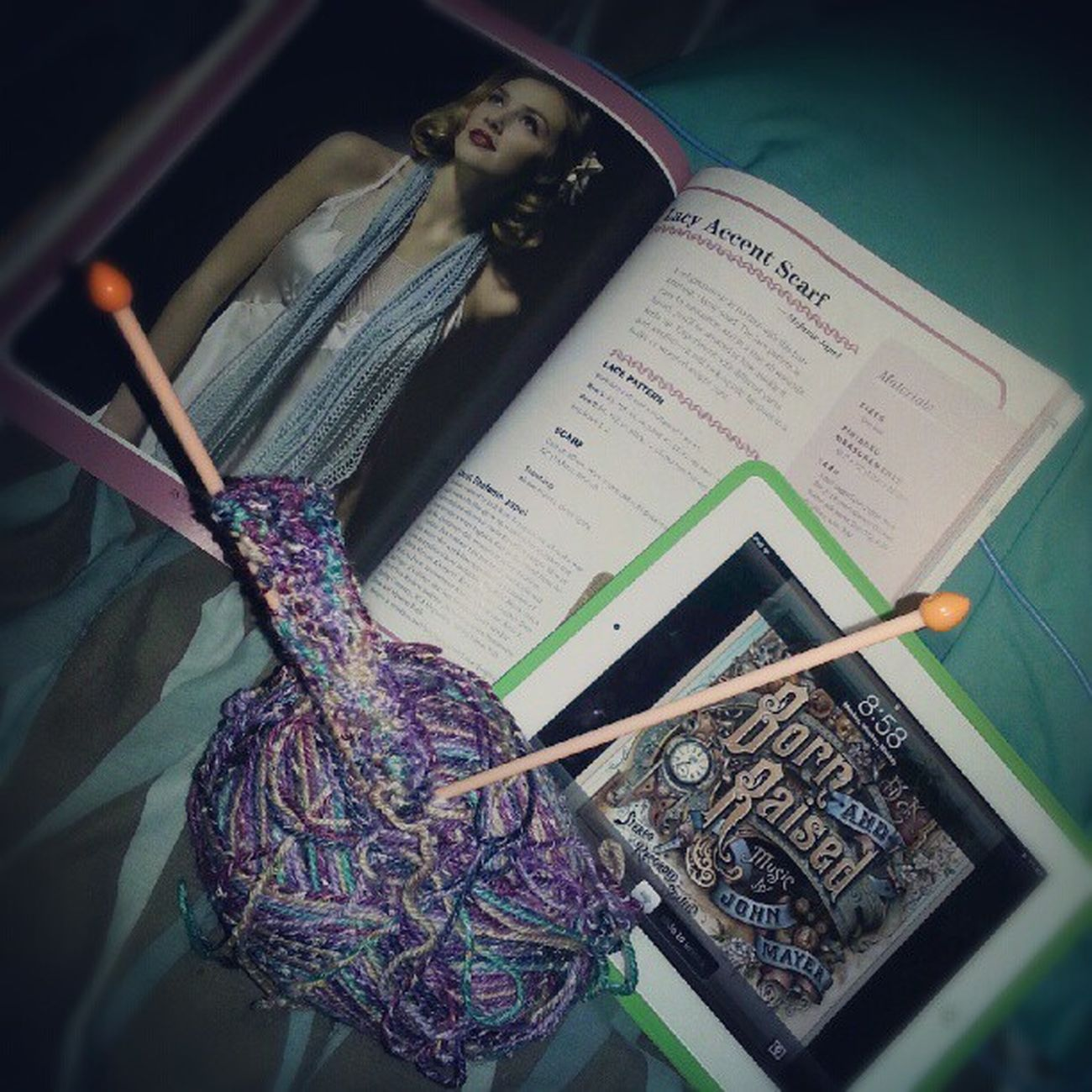 My night. Knitpattern Lace Knitting Yarn johnmayer scarf prefallknitting