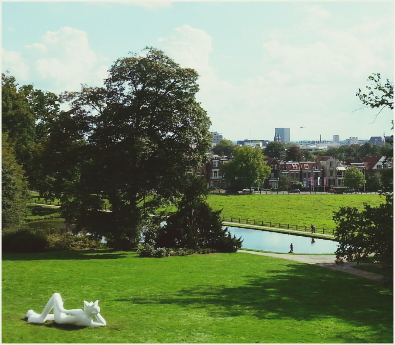 Arnhem Sonsbeekpark Dutch Landscape Statue lazy king
