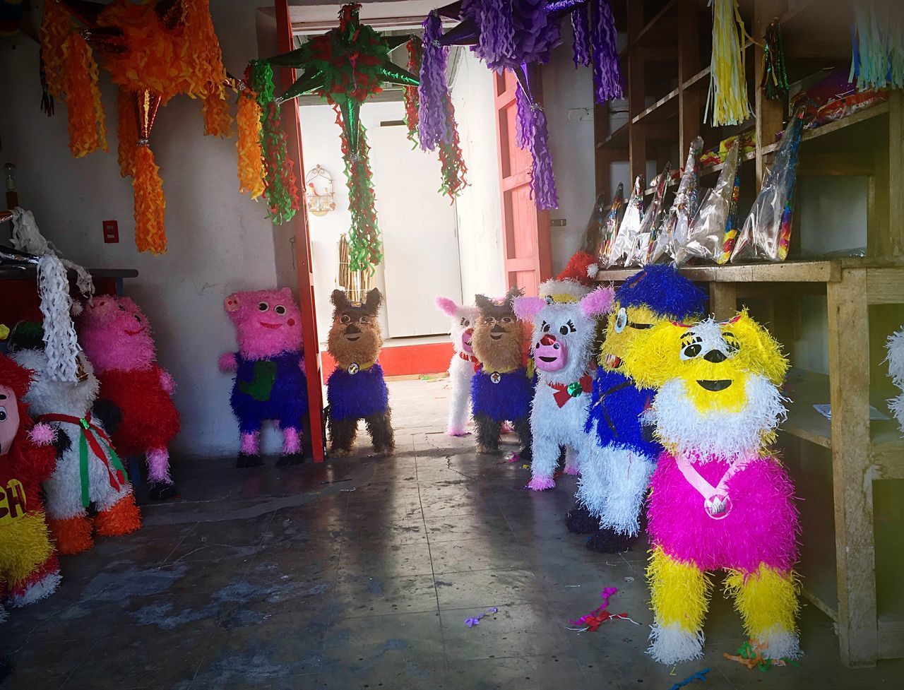 Feliz Navidad Multi Colored Indoors  Lifestyles Celebration Childhood Puppet No People Day Piñata Pinata Time Piñatasnavideñas