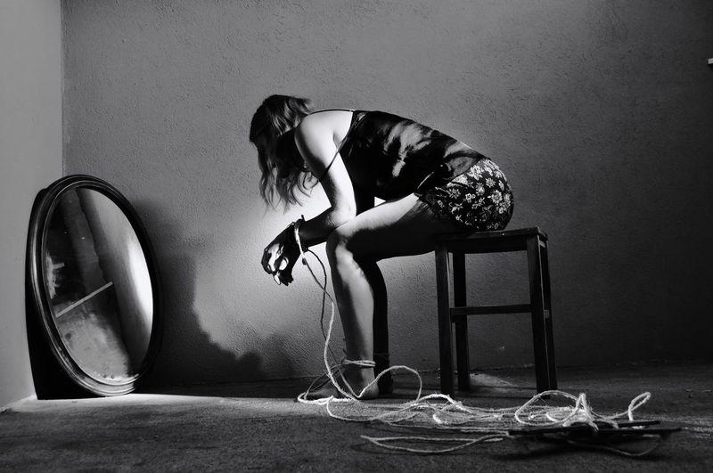 Prisoner Circus Abuse Animal Human Representation Blackandwhite Chain Puppet