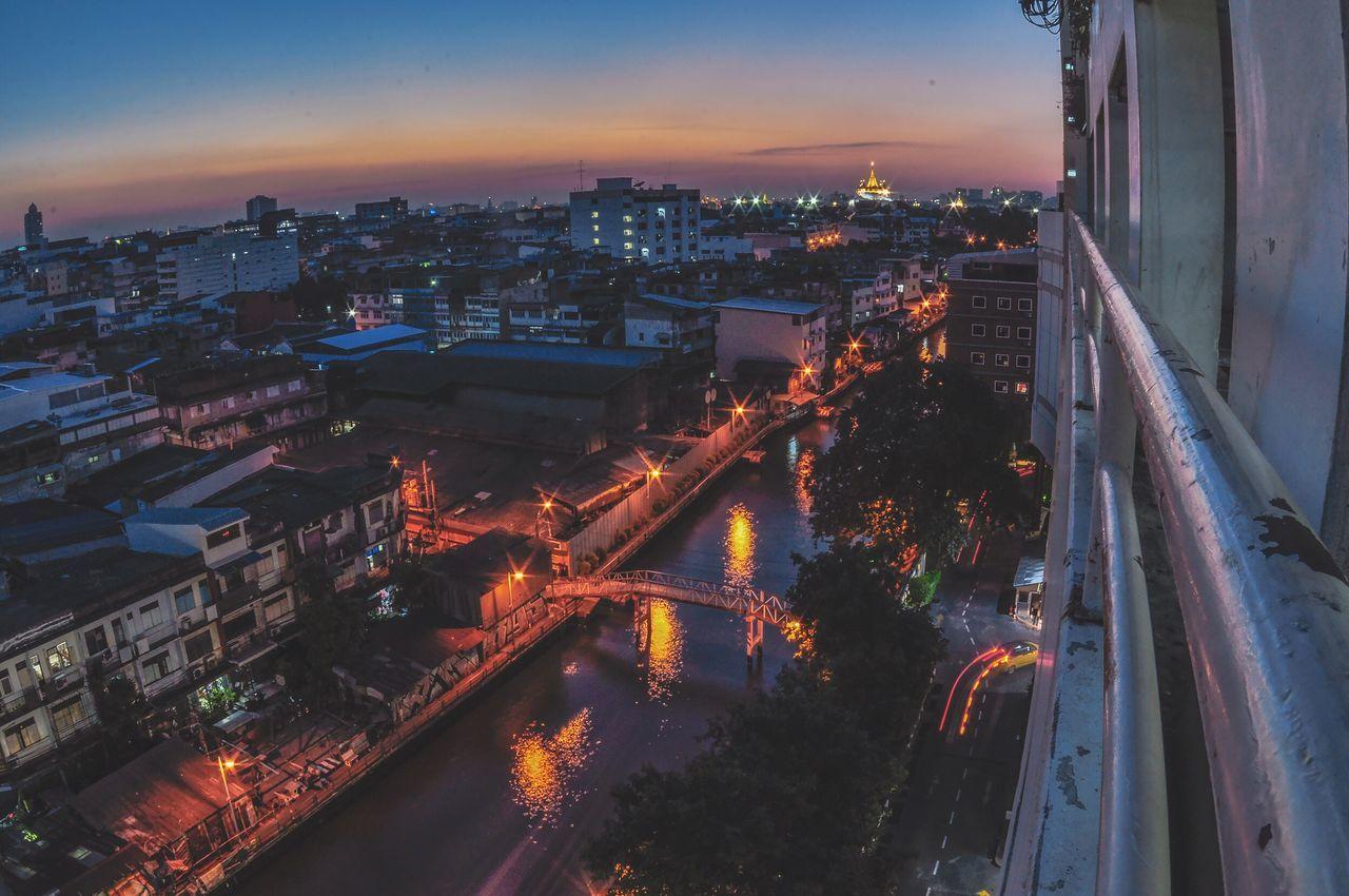 Bangkok from Bobae City Illuminated Night Sky Thailand Bangkok Thailand. Bangkok City Life Urban Skyline ASIA Cityscape