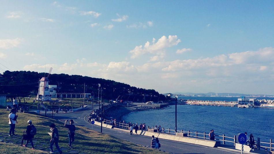 Relaxing Fresh Wind Sea And Sky Very Nice Beutiful