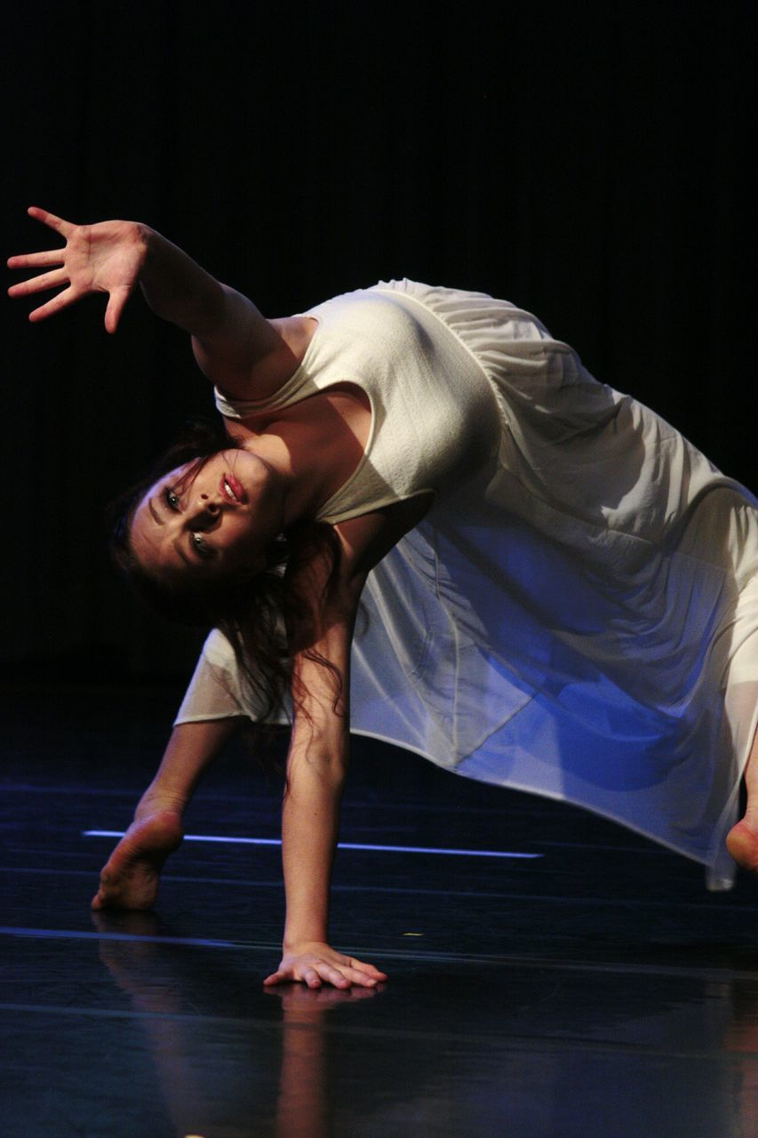 Young Dancer Performing On Stage