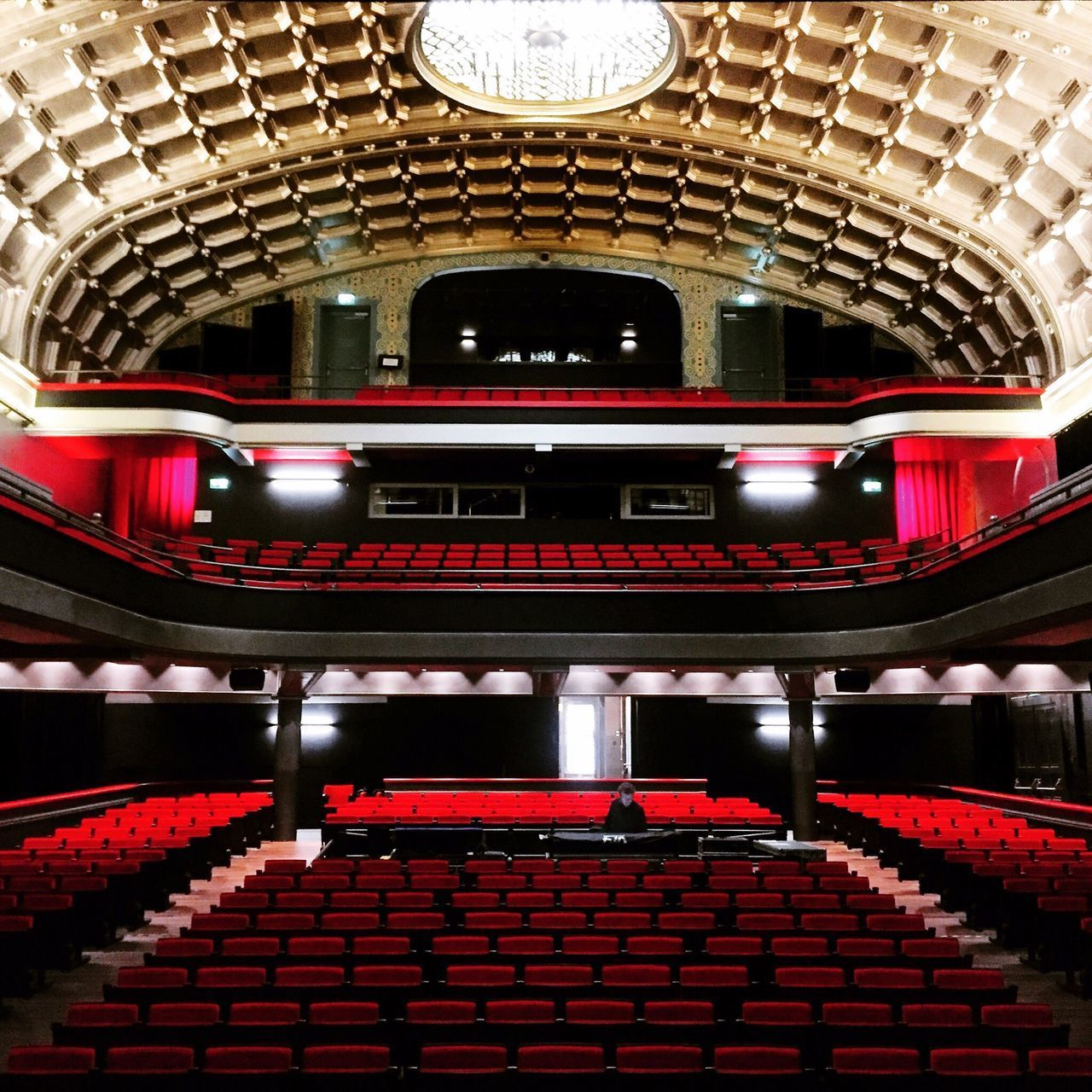 Hall Alhambra Salle De Concert Geneve, Switzerland Geneva Geneve Spectacle Auditorium Architecture Red