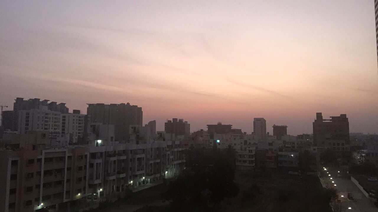 cityscape, city, architecture, building exterior, illuminated, sunset, skyscraper, no people, modern, sky, outdoors, night, residential