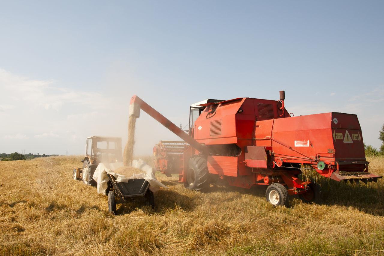 Combine Harvester Agriculture Combine Harvester Poland Wheat Combine Farming Harvest