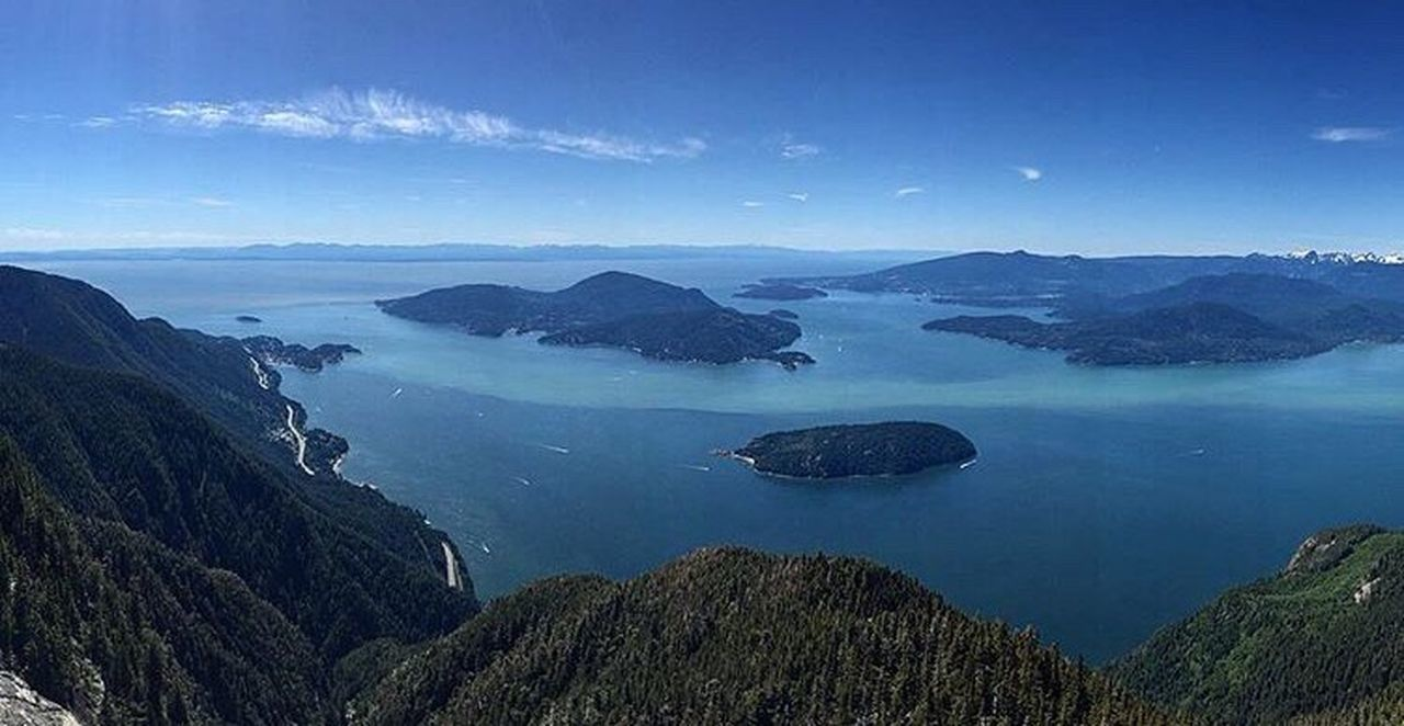 Hiking rewards St Mark's Sumit Sumit Hikingadventures Hiking Trail Hiking Adventures Hiking View Vancouver BC Vancouverisawesome Vancouver Canada North Shore North Shore Mountains Landscape Beauty In Nature Gulf Islands